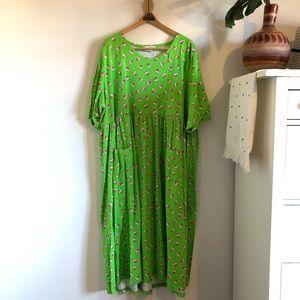 Ulla Popken Watermelon Print Empire Dress